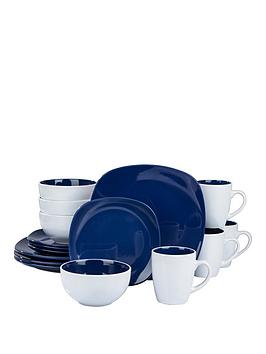 WATERSIDE Waterside Blue Nova Square 16-Piece Dinner Set Picture