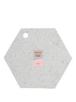 Typhoon Typhoon Terrazzo Hexagonal Chopping Board Picture