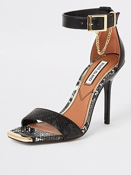 River Island River Island Barely There Heel Sandals - Black Picture