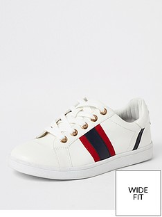 river-island-river-island-wide-fit-side-stripe-trainer-white