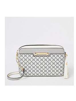 river-island-river-island-monogram-cross-body-bag-grey