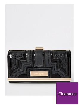 river-island-panelled-cliptop-purse-black