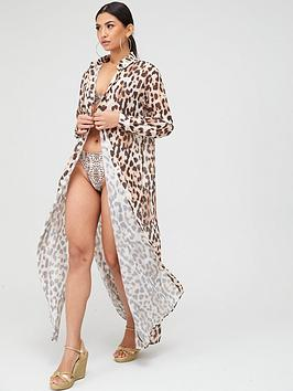 missguided-missguidednbspleopard-print-maxi-length-beach-shirt-brown
