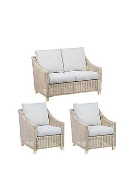 Desser Desser Dijon Natural Conservatory Suite (Sofa &Amp; Two Chairs) Picture