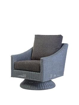Desser Desser Dijon Grey Wash Conservatory Swivel Chair Picture