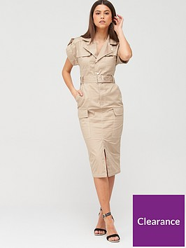 river-island-utility-midi-dress-beige