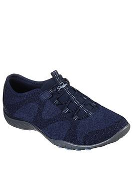 Skechers Skechers Breathe Easy Opportunity Trainers - Navy Picture