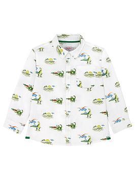 Cath Kidston Cath Kidston Boys Dino Long Sleeve Shirt - Ivory Picture