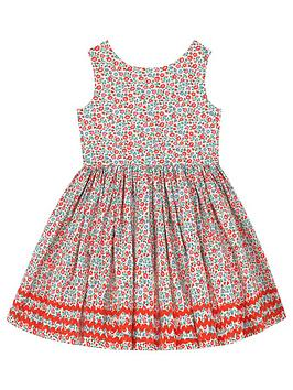 Cath Kidston Cath Kidston Girls Ditsy Sleeveless Dress - Stone Picture