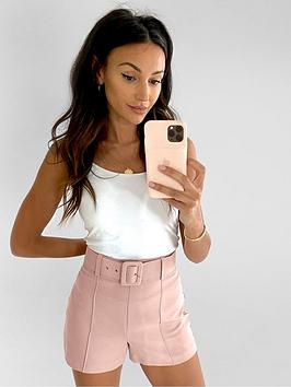 Michelle Keegan Michelle Keegan Belted Tailored Short - Blush Picture