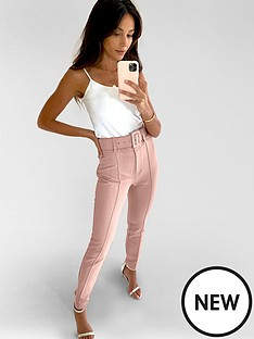 michelle-keegan-belted-tailored-trousers-blush