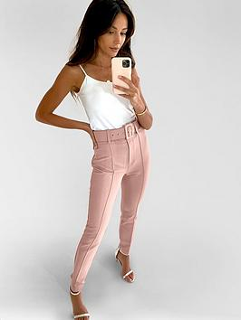 Michelle Keegan Michelle Keegan Belted Tailored Trousers - Blush Picture