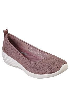 Skechers Skechers Arya Airy Days Ballerina Shoe - Mauve Picture