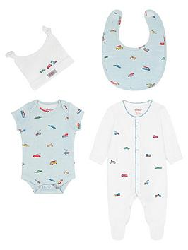 Cath Kidston   Baby Boys Spaced Transport Sleepsuit Gift Set - Blue