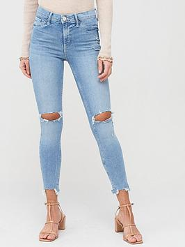 River Island River Island Ripped Molly Mid Rise Jeggings - Light Blue Picture