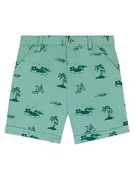 Cath Kidston Cath Kidston Boys Palm Print Chino Shorts - Green Picture