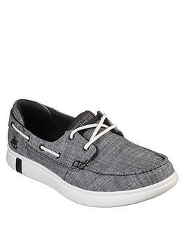 Skechers   Glide Ultra Boat Shoe - Black/White