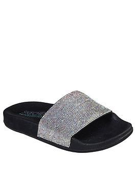 skechers-pop-ups-slide-flat-sandal-blacksilver