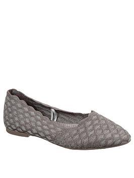 Skechers Skechers Cleo Ballerina Shoe - Dark Taupe Picture