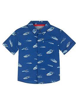 cath-kidston-boys-boat-short-sleeve-shirt-navy-blue
