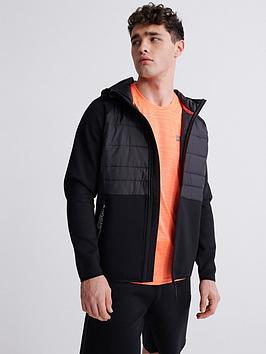 Superdry Superdry Gymtech Hybrid Jacket - Black Picture