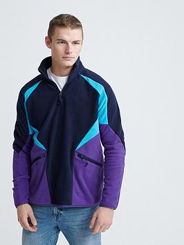 Superdry Superdry Crafted Casuals Pola Overhead Track Top - Navy Picture