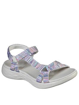 Skechers Skechers On The Go 600 Flat Sandal - Natural/Multi Picture