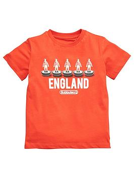 England Boys Fathers Day Subbuteo Little Man Mini Me T-Shirt - Red