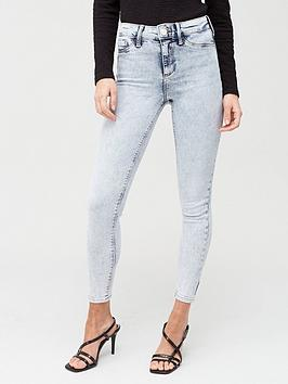 River Island River Island Mid Rise Molly Jeggings - Blue Picture
