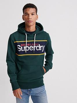 superdry-core-logo-stripe-hoodie-green