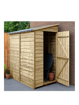 FOREST Forest 6X3 Value Overlap Dip Treated Windowless Pent Shed Picture