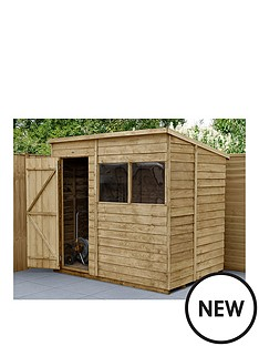 forest-7x5-overlap-pressure-treated-pent-shed-with-optional-intallation