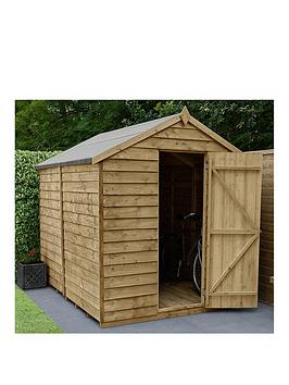 FOREST Forest 8X6 Overlap Pressure Treated Apex Shed With Optional  ... Picture