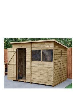forest-8x6-overlap-pressure-treated-pent-shed-with-optional-installation