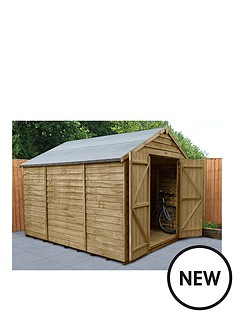 forest-10x8-overlap-pressure-treated-apex-workshop-shed-with-double-doors