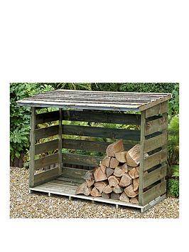 FOREST Forest 6X3 Overlap Pressure Treated Double Log Store