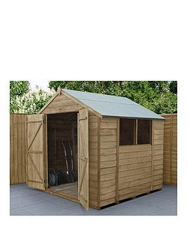 forest-7x7-overlap-pressure-treated-apex-shed-with-double-doors-with-optional-installation