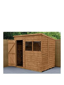 forest-7x5-overlap-dip-treated-pent-shed-with-double-doors-with-optional-installation