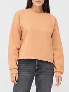 v-by-very-the-fashion-cropped-crew-neck-sweat-top-clay