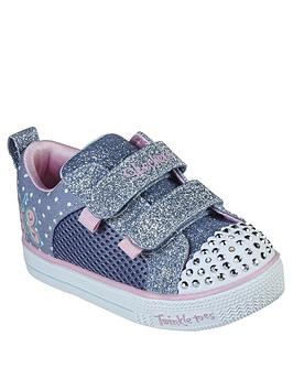 Skechers Skechers Toddler Girls Shuffle Lites Plimsolls - Blue Picture
