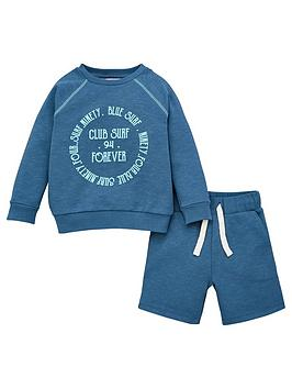 V by Very V By Very Boys Surf Club Sweat And Jog Shorts - Teal Picture