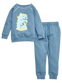 v-by-very-boys-roar-dino-jog-set-teal