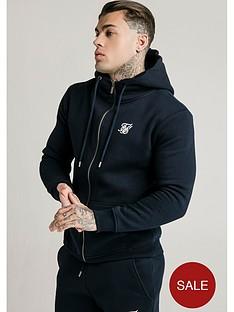 sik-silk-zip-through-funnel-neck-hoodie-navy