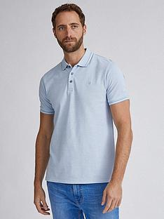 burton-menswear-london-two-tone-tipped-polo-shirt-ndash-blue