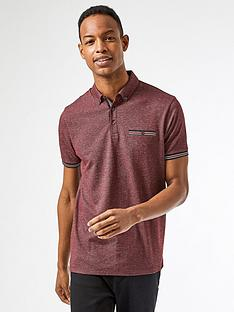 burton-menswear-london-texture-polo-shirt-burgundy