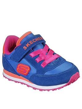 Skechers Skechers Toddler Girls Strap Trainers - Blue Picture