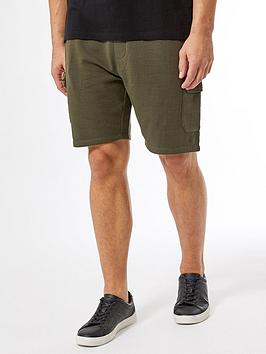 Burton Menswear London Burton Menswear London Jersey Cargo Shorts - Khaki Picture