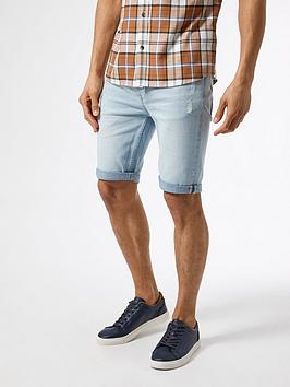 Burton Menswear London Burton Menswear London Skinny Rip Shorts - Light  ... Picture