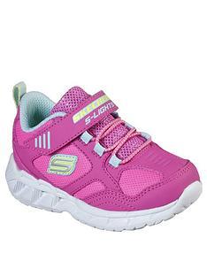 skechers-toddler-girls-magna-lights-trainers-pink