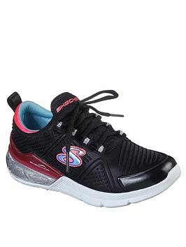 Skechers Skechers Girls Skech-Air Sparkle Trainers - Black Picture